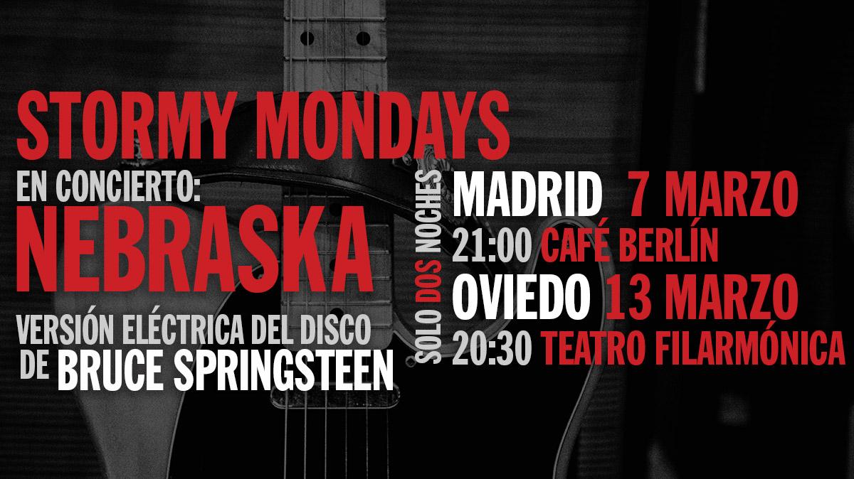 «Nebraska» En Directo: Conciertos En Madrid Y Oviedo