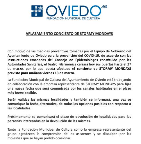 Comunicado Ayuntamiento de Oviedo
